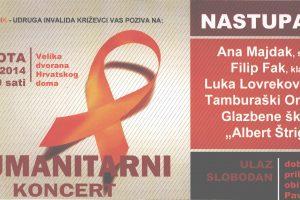 Udruga invalida Križevci poziva na humanitarni koncert