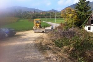 Izgradnja ceste Prđuni