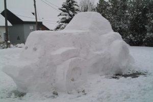Skulptura od snijega