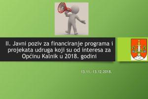 Odluka o dodjeli financijskih sredstava za programe/projekte udruga u 2018. godini