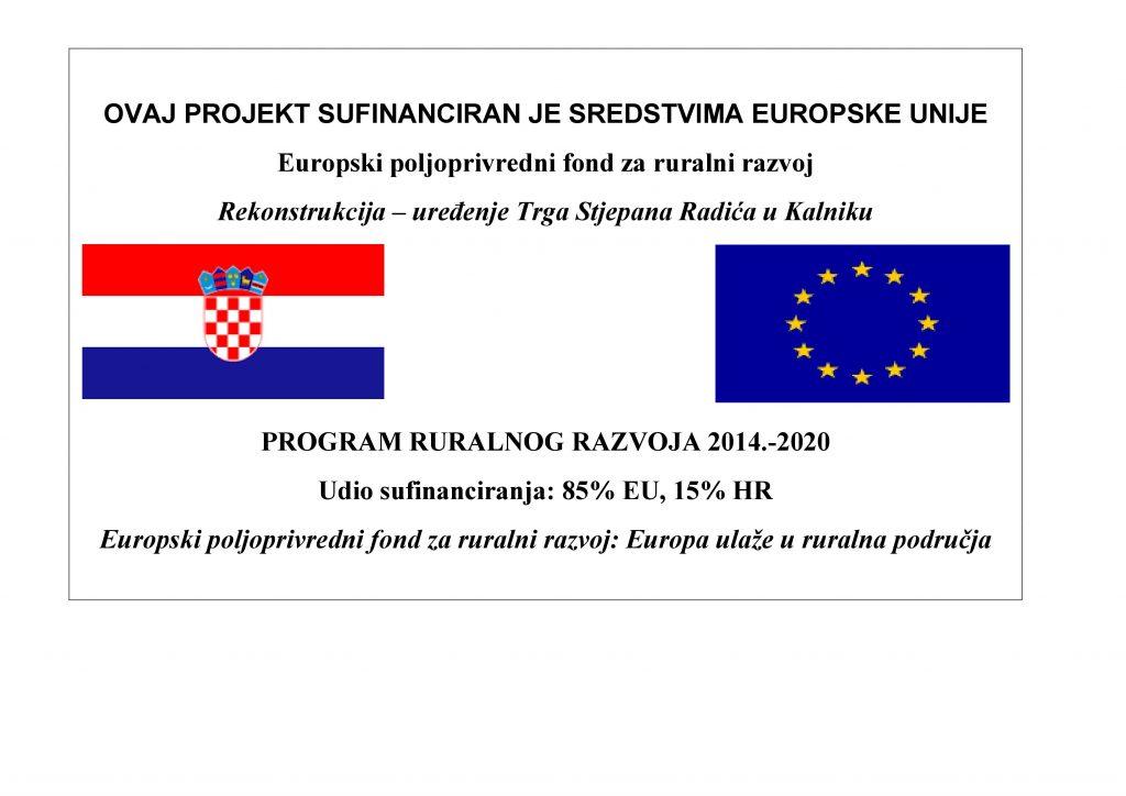 Rekonstrukcija Uređenje Trga Stjepana Radica U Kalniku Opcina
