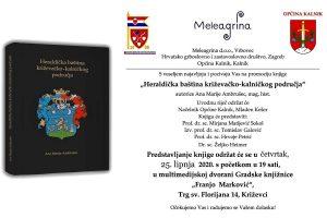 """Poziv na predstavljanje knjige """"Heraldička baština križevačko-kalničkog područja"""""""